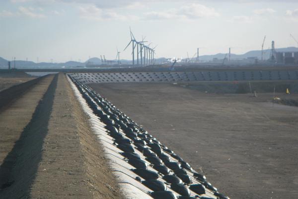 土堰堤築造工事